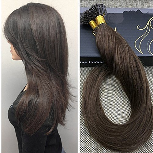 Ugeat 26″ Dark Brown #4 U Tip Natural Hair Extensions 50G/Package Pre Bonded Remy Hair Extensions Nail Tip Hair Straight Review
