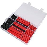 KU Syang 270Pcs 3: 1 Shrink Ratio Dual Wall Adhesive Lined Heat Shrink Tubing Tube 6 Size 2 Color KIT Black Red
