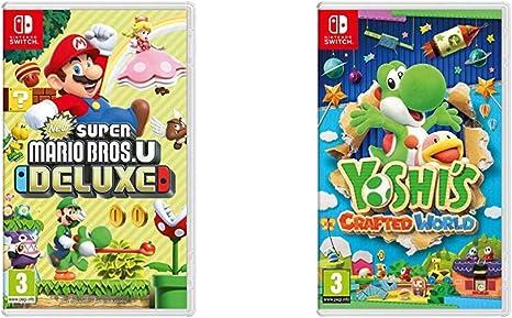New Super Mario Bros. U Deluxe + Yoshis Crafted World: Amazon.es: Videojuegos