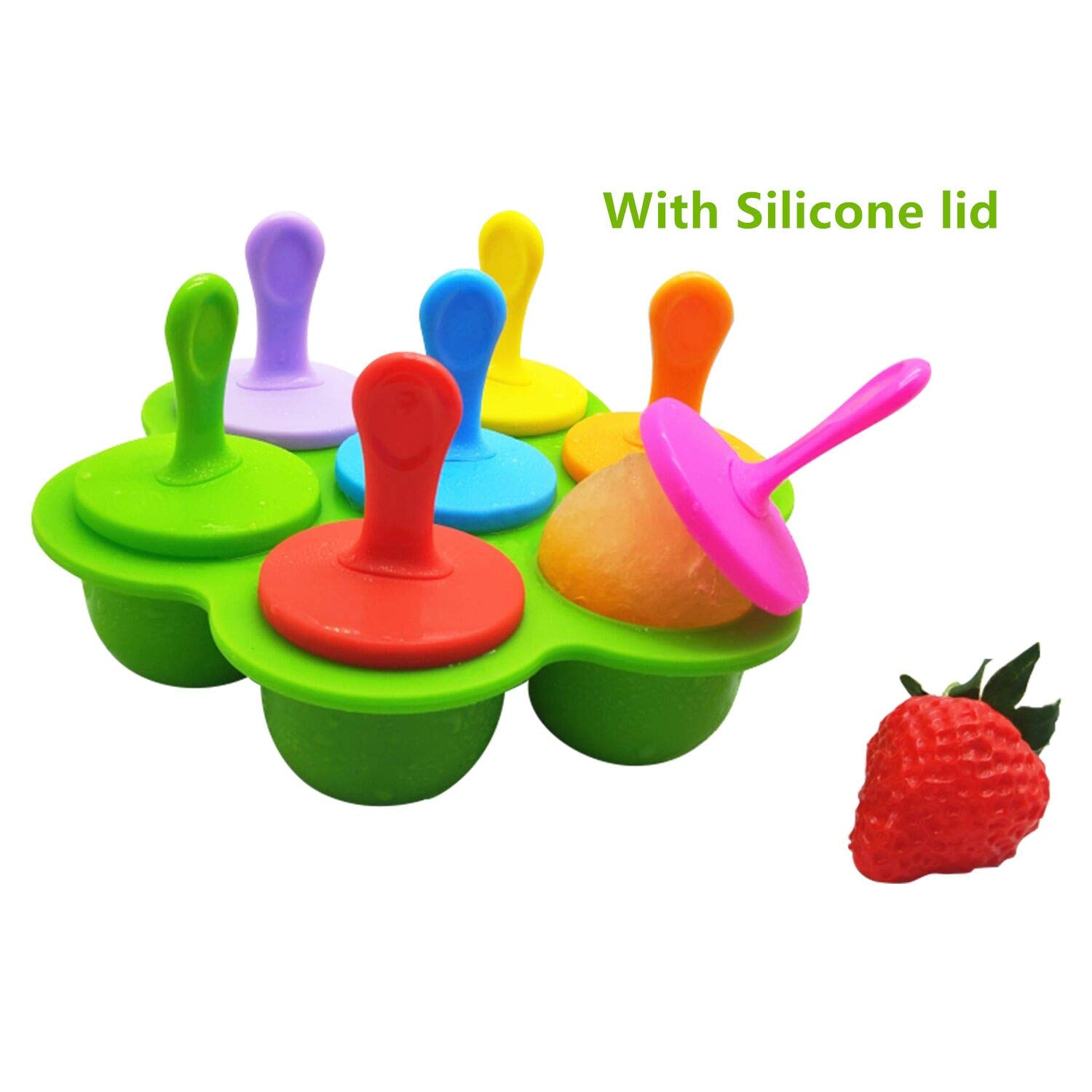 Popsicle Molds & Silicone Egg Bites Molds with Lids Sticks and Drip Catcher Frozen Ice Pop Molds Reusable Easy Release Ice Pop Maker No Drip Pressure Cooker Accessories