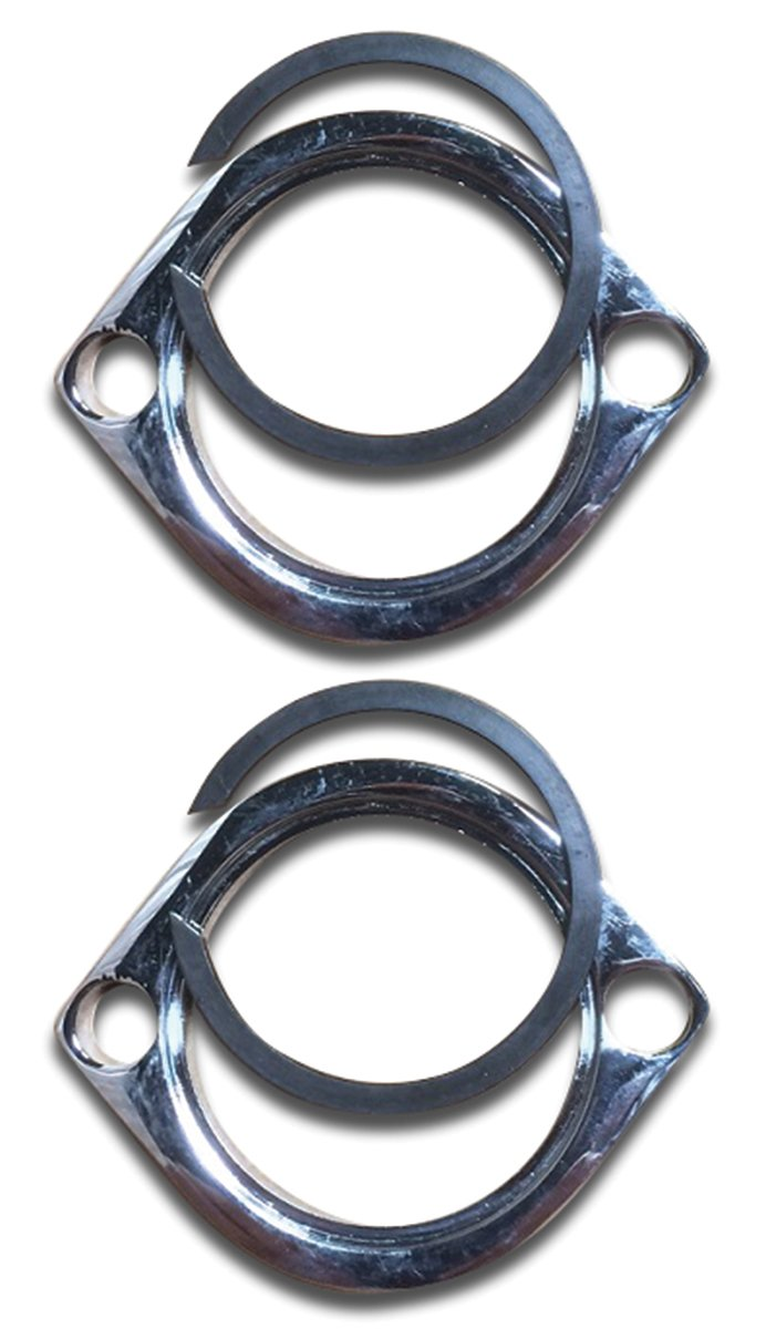 Ultima Exhaust Flange Kit with Retaining Rings for Evolution Big Twin 1984 & Later, and Evolution Sportster 1986 & Later, Also Will Fit Twin Cam Models 1999-Present, 66-290 by Ultima (Image #1)