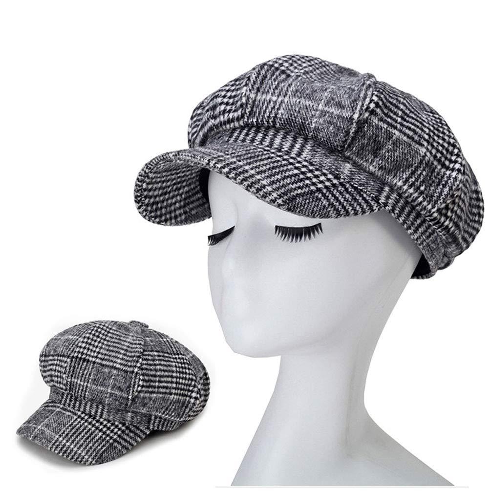Blmusi Newsboy Beret Hat for Women Cabbie Hats Fall Visor Cap Paperboy Painter Hat