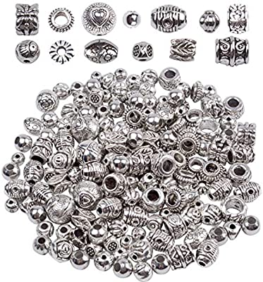 Antique Silver European Charm Bail pack of 15