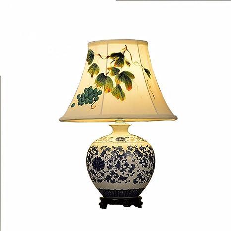 QMPZG-Lámpara de mesa de cerámica, nuevo estilo chino ...