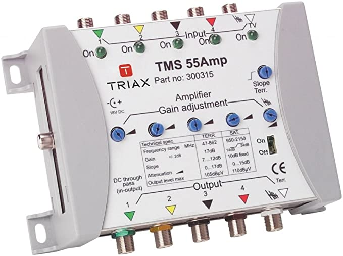 Triax Tms 55 Amp Verstärker 5 Eingänge 5 Ausgänge Elektronik