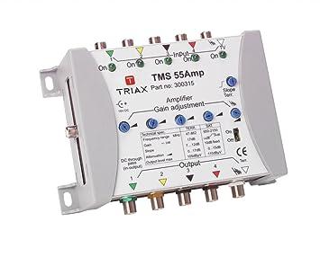 Triax TMS 55AMP Amplificador, blanca