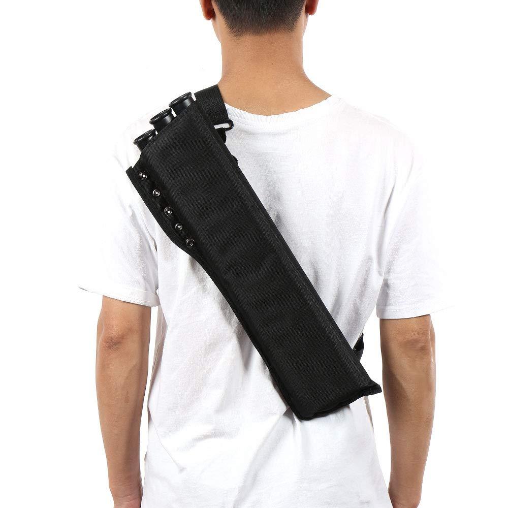 Toparchery 3-Tubos Cadera Flecha Carcaj Cintura colgada Bolsa de Transporte Oxford Tela Cadera Caza Formaci/ón Flecha Titular Ajustable