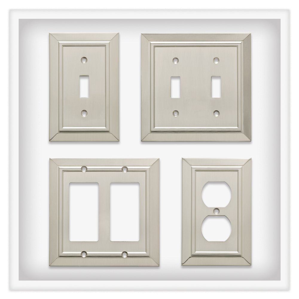 Franklin Brass W35225-SN-C Classic Architecture Triple Toggle Switch Wall Plate / Switch Plate / Cover, Satin Nickel by Franklin Brass (Image #4)