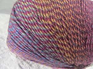 Knitting Fever Painted Sky Superwash Yarn Self Striping Color 205 Wine, Violet