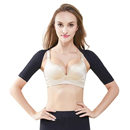 8de8b7caa Amazon.com  Allywit- Women Half Sleeve Shaper Slimmer Arm Shapers Back  Shoulder Support Wrap Correct Posture Corrector Humpback Prevent Shapewear   Home   ...