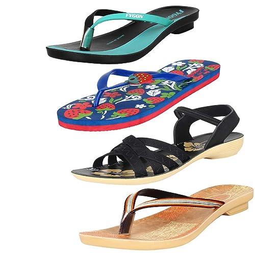 f7f0b4f60 Earton Womens Stylish   Trendy Multicolor Combo Canvas Flip-Flops   Slippers  (COMBO-