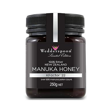 2f12df32182 Wedderspoon Raw KFactor 22 Manuka Honey, 250 g: Amazon.co.uk: Grocery