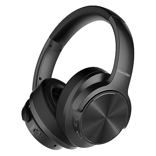 Mixcder E9 Auriculares inalámbricos con Cancelación de Ruido Activa Casco Bluetooth con Micrófono Almohadillas de Proteína Cómodas Controlador Doble de 40 mm Bluetooth CSR 30 Horas de Juego