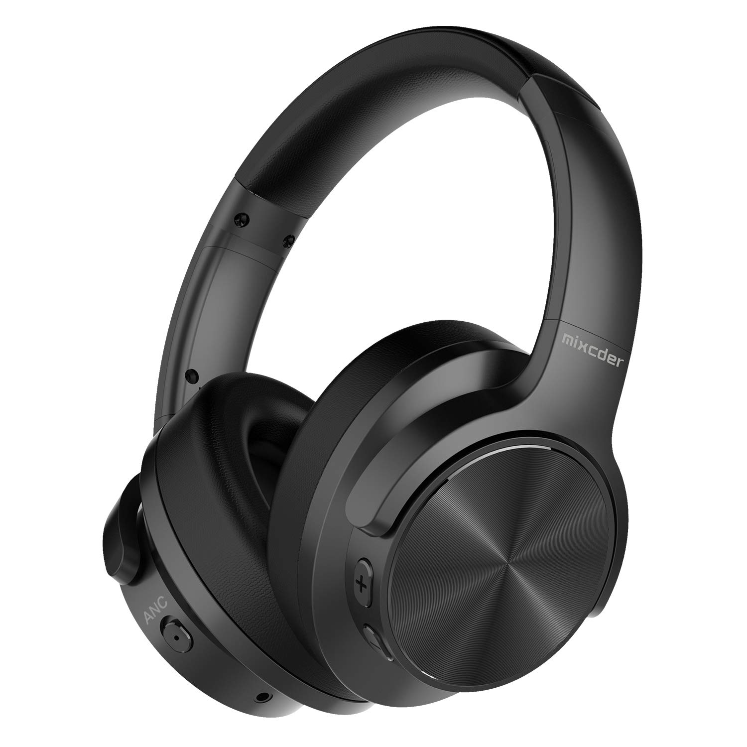 Mixcder E9 Wireless Active Noise Cancelling Headphones (Dual 40mm Drivers, Bluetooth CSR, Comfortable Protein Earpads, 30 Hours Battery Life), Black