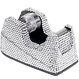 Clear Crystal Rhinestone Tape Dispenser