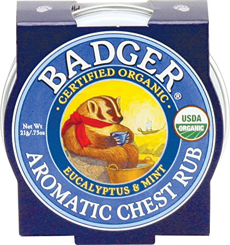 Badger Balm Aromatic Chest Rub - Eucalyptus - 0.75 oz ()