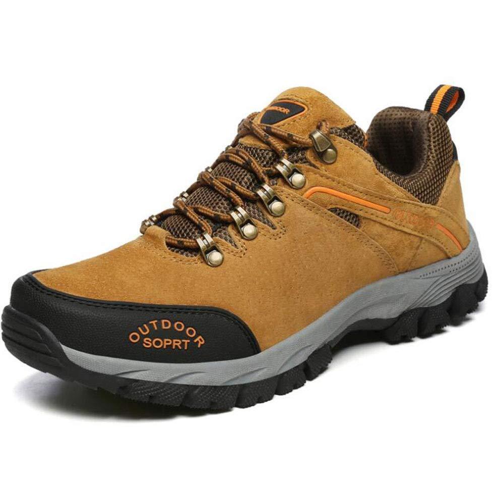 Otoño e Invierno nuevos Zapatos de Senderismo de Gran tamaño de los Hombres al Aire Libre Resistente al Desgaste Antideslizante Zapatos al Aire Libre Zapatos de Pareja para Caminar 40 EU Naranja