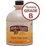 Organic Grade B Maple Syrup 64 Oz (1/2 Gal) Plastic Jug (Bpa Free)