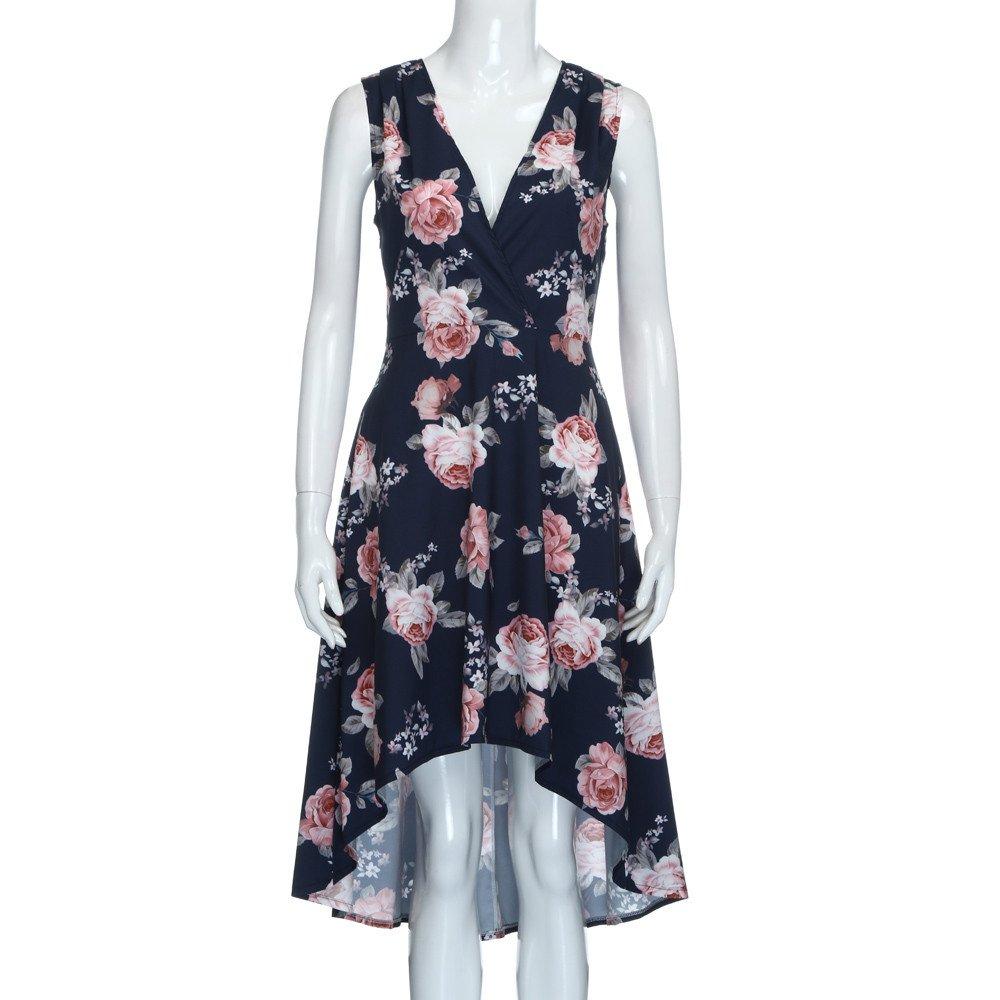 JUTOO Womens Ladies Christmas Mini Smock Women Summer Off Shoulder Floral Short Mini Dress Ladies Beach Party Dresses
