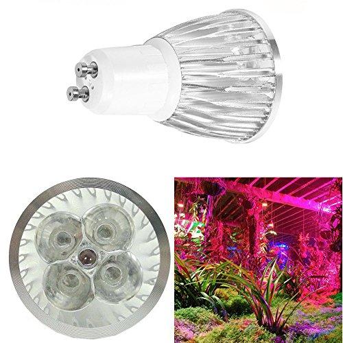5W 5 LEDs (3 Blue & 2 Red) AC 85-265V Plant LED Grow Light LED Bulb Sport Light Downlight Plant Light Bulb for Indoor Flower Plant Vegetables Hydroponic Garden (2Pcs, GU10)