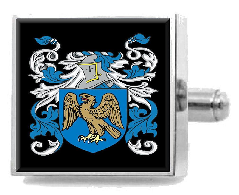 Select Gifts Honeyman England Family Crest Surname Coat Of Arms Cufflinks Personalised Case
