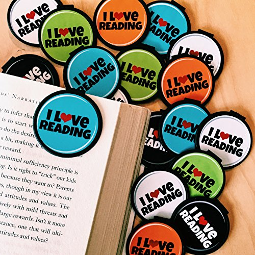 I Love Reading! Bookmarks - 36 Bulk Bookmarks for Kids Girl's Boys- School Student Incentives - Library incentives - Reading Incentives - Party Favor Prizes - Classroom Reading Awards!