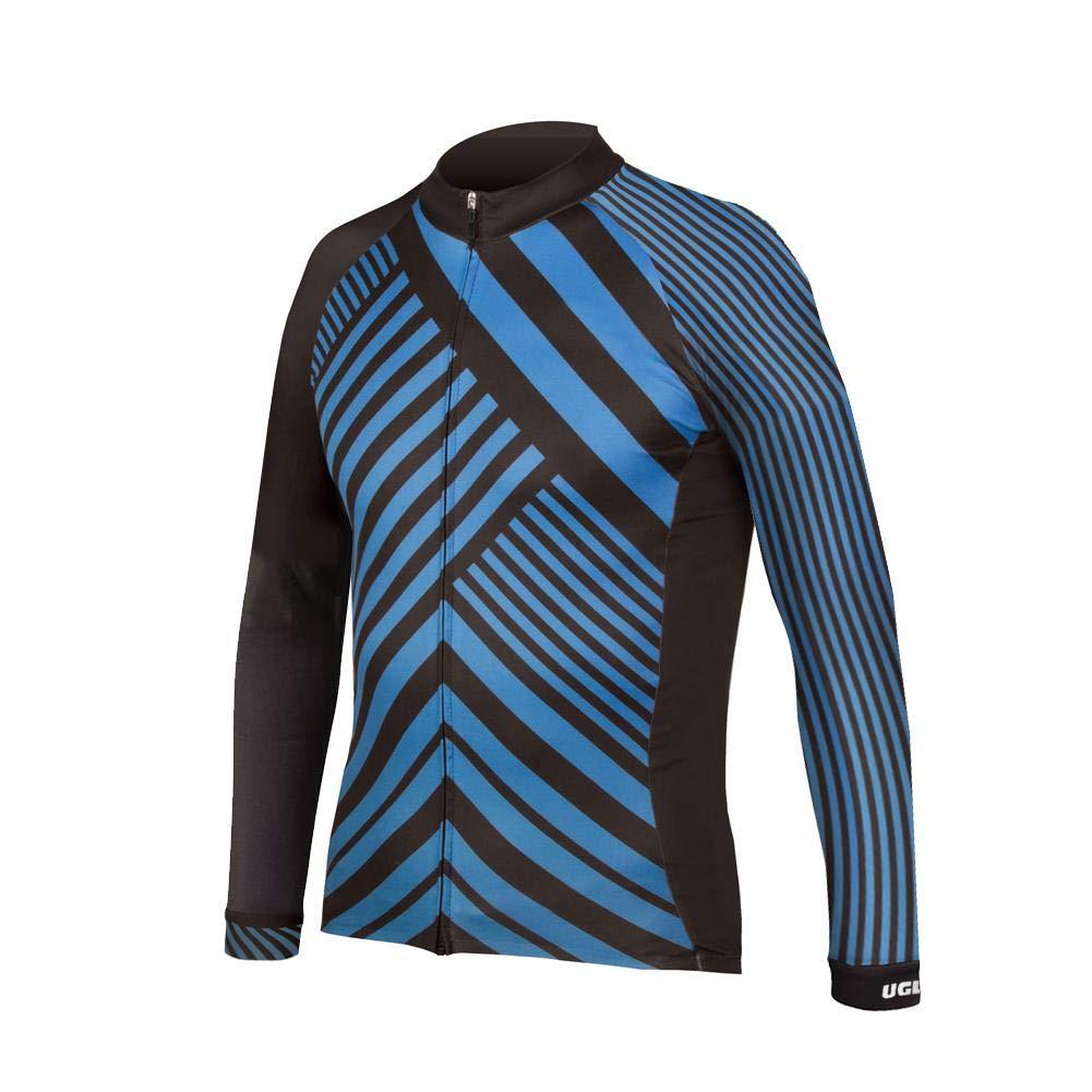 Uglyfrog Fahrradtrikot Herren Einzigartige Farbabstimmung Muster Radtrikot Männer Langarm Breath Bike Jersey/Bib Tight Suit