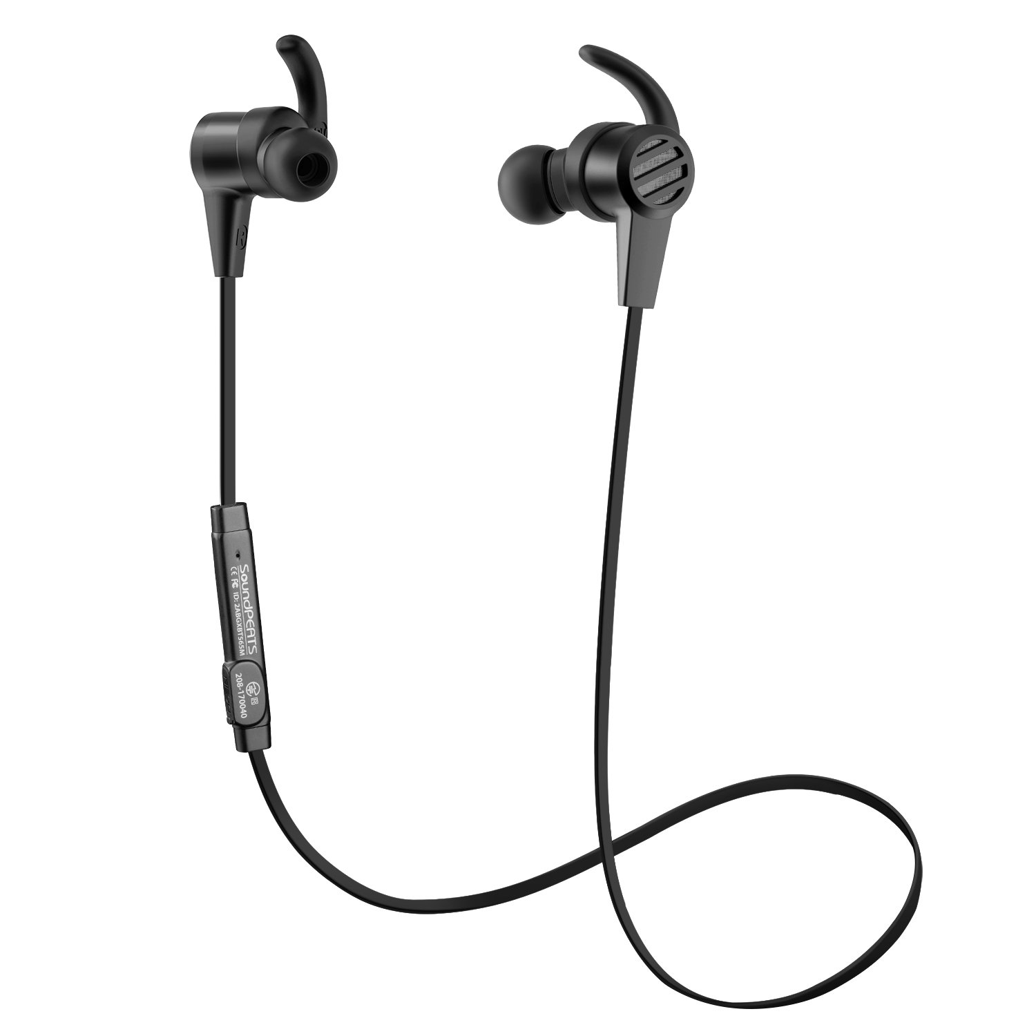 Bluetooth Earphones, SoundPEATS Wireless Magnetic Sport Earphones( Bluetooth 4.1, High Fidelity Sound, APTX, 8 Hours Playtime, Secure Fit for Running)-Black