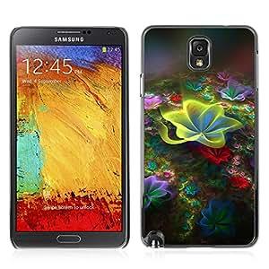 Carcasa Funda Case // V0000438 Fractal Art Flowerings // Samsung Galaxy NOTE 3 N9006