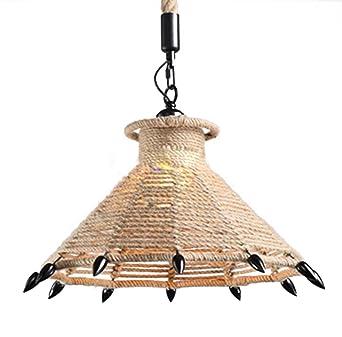 LVYI Pendelleuchte Leuchten Retro Seillampe Landhauslampe Industrielampe Vintage Korridor Hngelampen Lampe Seil Wohnzimmerlampe Esszimmerlampe Seilsystem