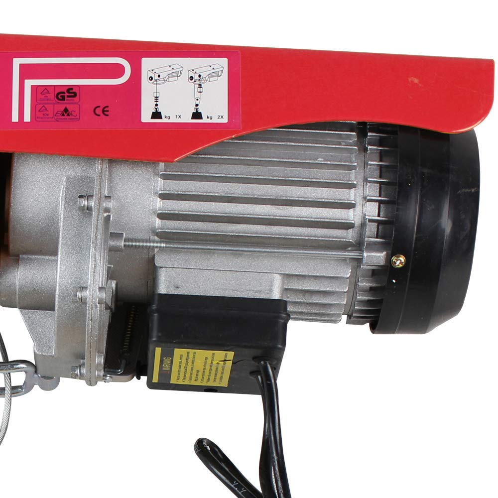 Treuil /à C/âble Electrique 220V//50hz Treuil-Palan Electrique 100~1000KG avec C/âble en Acier et Bo/îtier de Commande IP 40 100~200KG