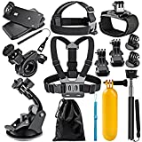 Neewer 12-In-1 Action Camera Accessory Kit for GoPro Hero Session/5 Hero 1 2 3 3+ 4 5 SJ4000 5000 6000 DBPOWER AKASO VicTsing APEMAN WiMiUS Rollei QUMOX Lightdow Campark and Sony Sports DV and More
