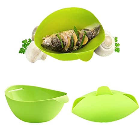 Amazon.com: aremazing silicona Pan Maker pescado Steamer ...