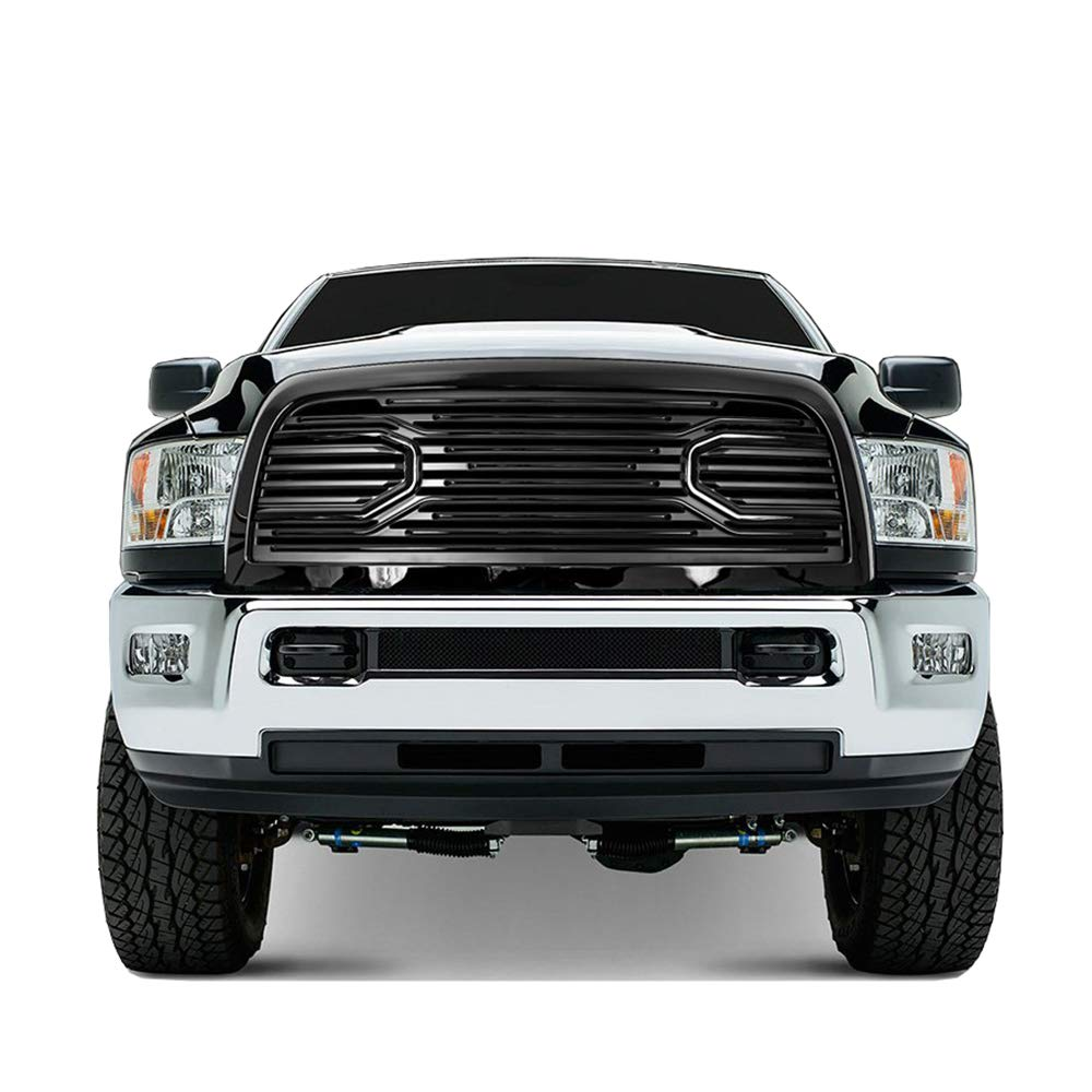 Paragon Front Grille for 2010-18 Dodge Ram 2500//3500 Gloss Black RAM Style Grill Grilles with Mesh