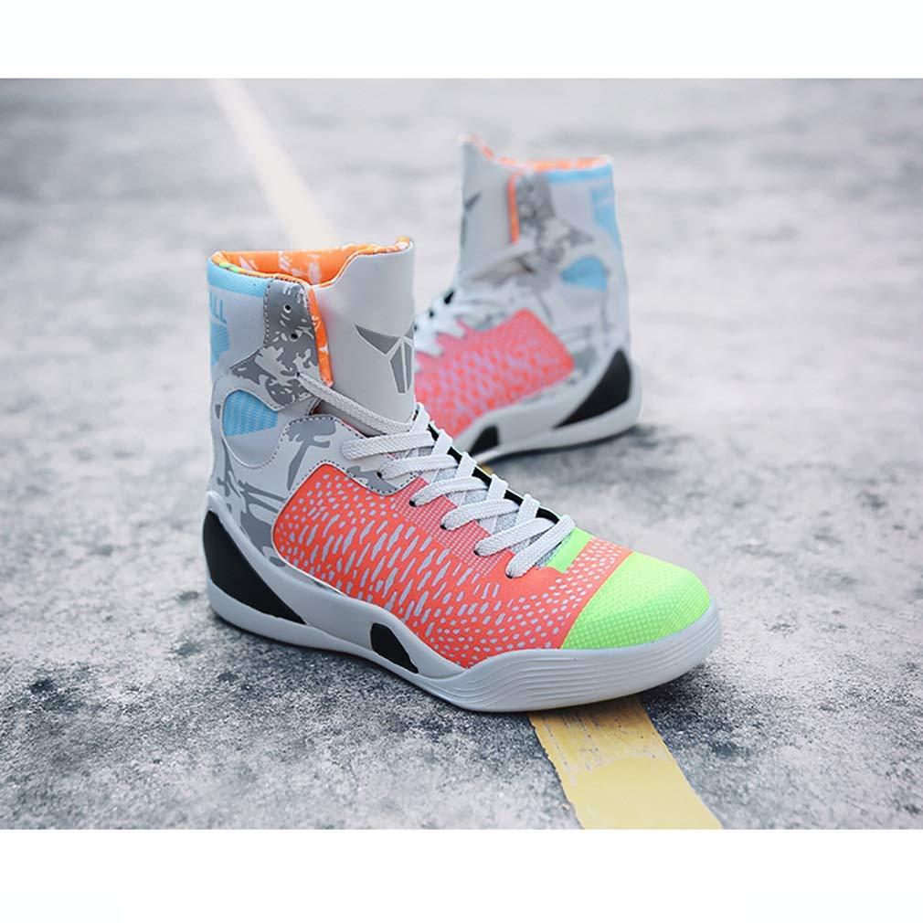 Hy Botas Altas de Baloncesto para para para Hombre Primavera Otoño Botas cómodas Zapatillas Deportivas de Baloncesto Zapatillas Deportivas para Estudiantes Transpirables (Color   UN, tamaño   41) d54ca0