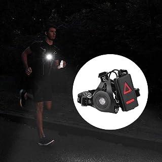Ballylelly en Plein air Feux LED Nuit Exécution Lampe de Poche USB Charge Lampe Poitrine