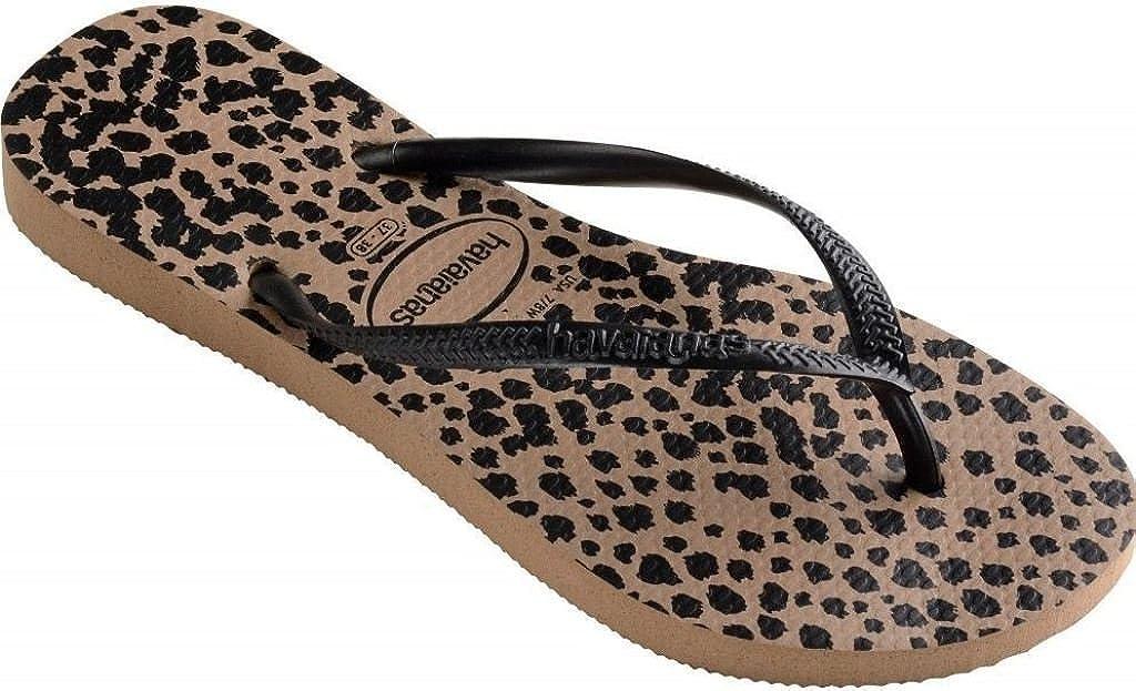 c3da04a13 Havaianas Slim Animals Rose Gold Black Womens Summer Beach Flip Flops-40   Amazon.co.uk  Shoes   Bags