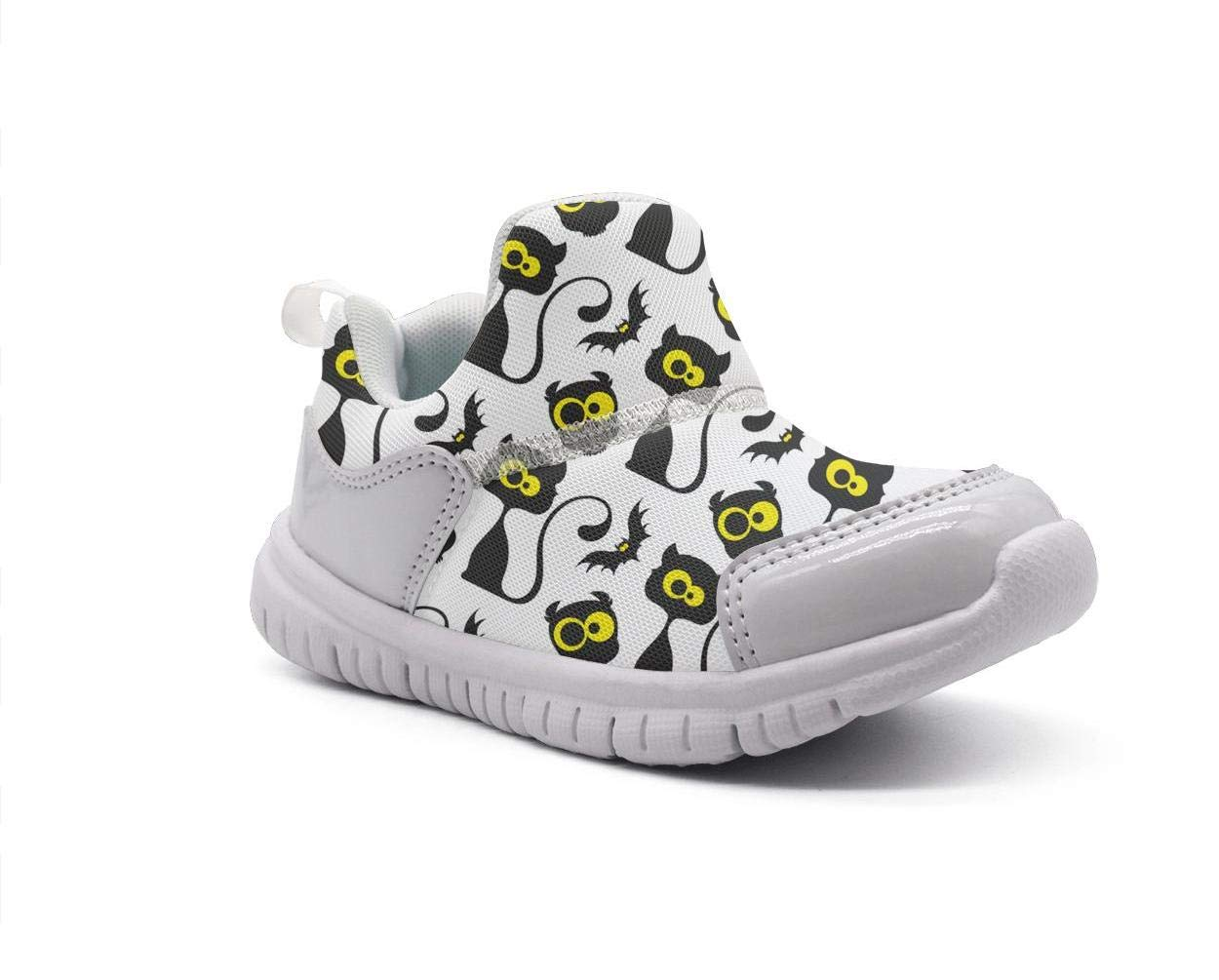 ONEYUAN Children Cute Black Cats and Bat Kid Casual Lightweight Sport Shoes Sneakers Walking Athletic Shoes