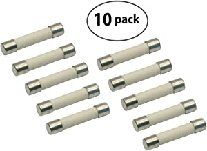 (10 Pack) Microwave Replacement Fuse, 20A, 250V, Ceramic Line Fuse, Fast Blow Microwave Fuse