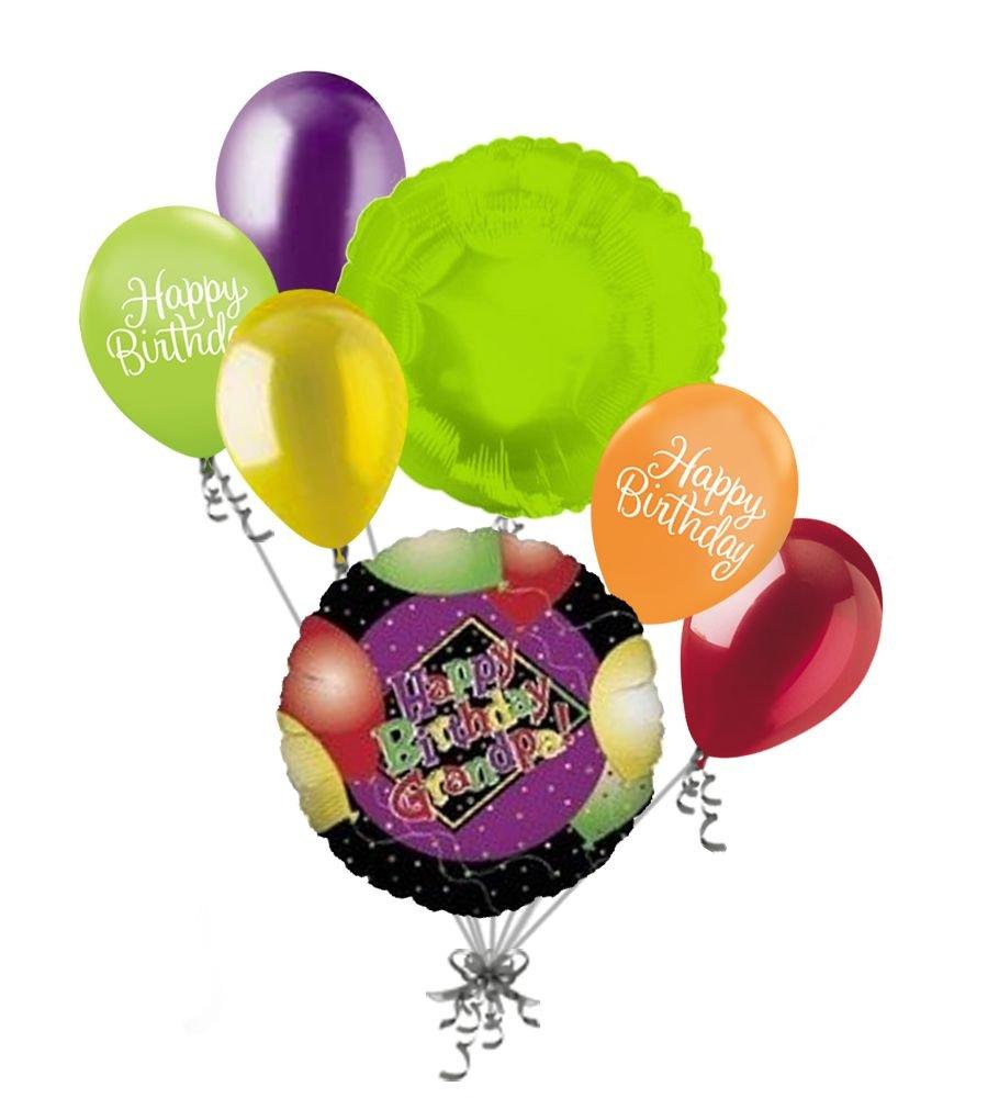 Amazon 7pc Happy Birthday Grandpa Balloon Bouquet Grandfather Thinking Of You Papi Papa Toys Games