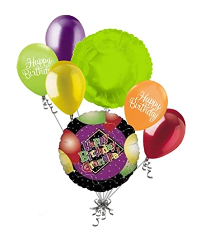 Image Unavailable Not Available For Color 7pc Happy Birthday Grandpa Balloon