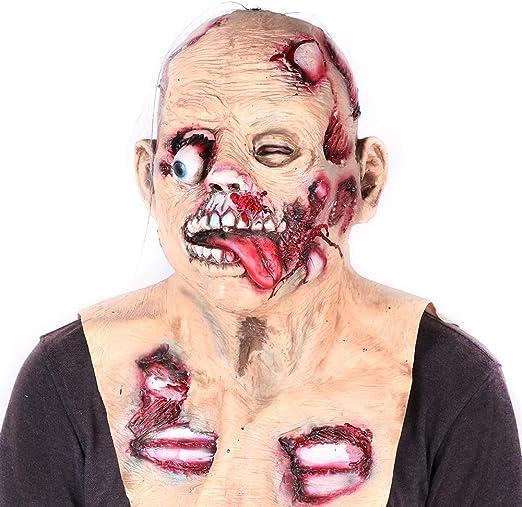 ALWONDER - Máscara de Halloween Zombie para Disfraz de béisbol ...