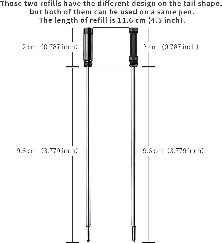 YOTINO 30 Pcs Ballpoint Pen Refills Medium Point Pen Refills Replacement 15 Pcs