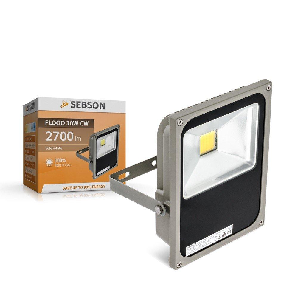 SEBSON 30W LED Fluter kalt weiß IP65 - Flutlicht Strahler ...
