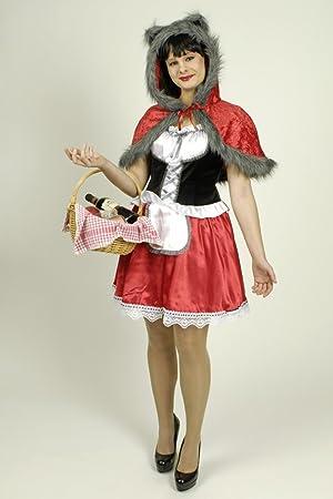 Disfraz Caperucita roja con piel de lobo mujer M Amazones
