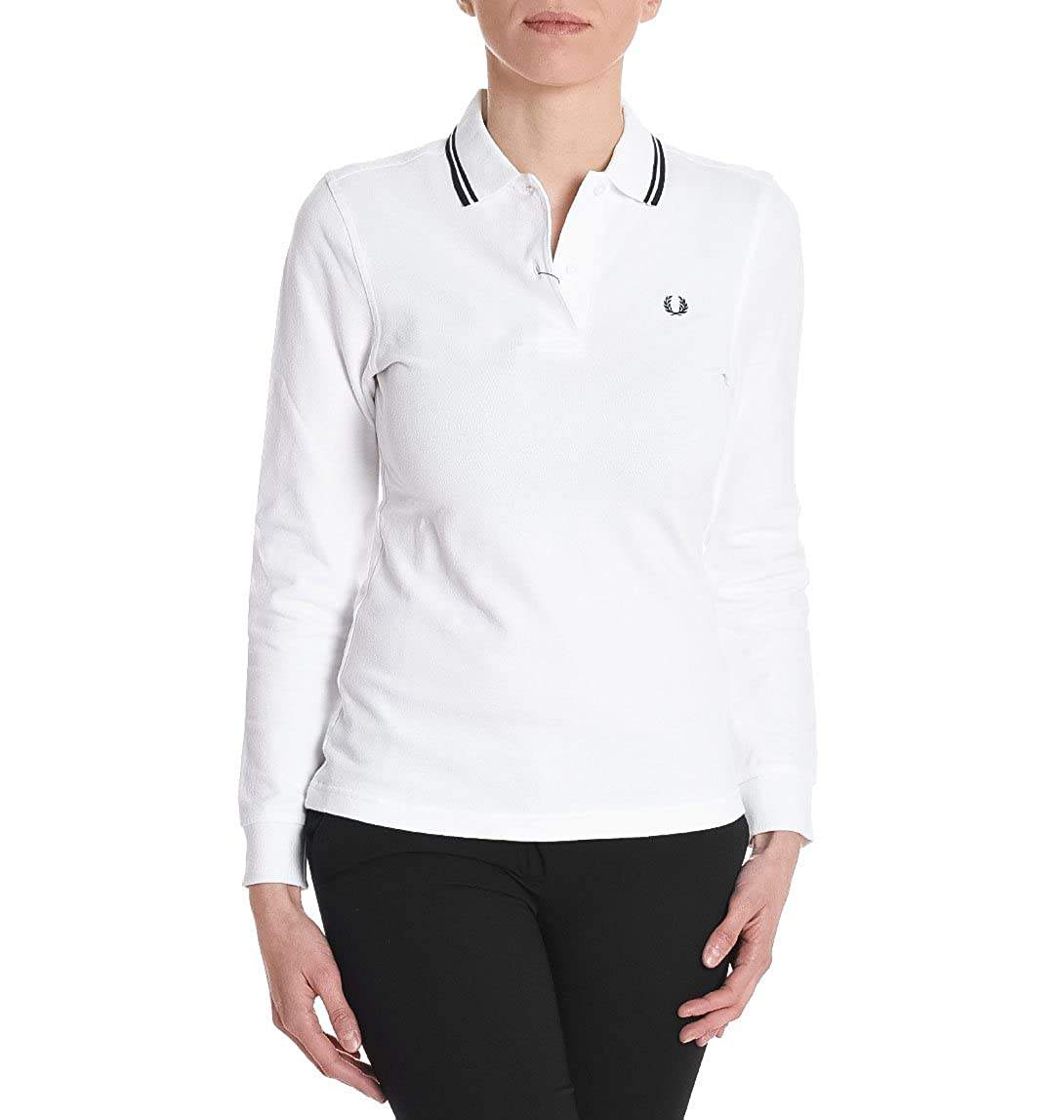 White Fred uk Perry Amazon Shirt Women's Fpg3636205 Polo Cotton co qxT4fx
