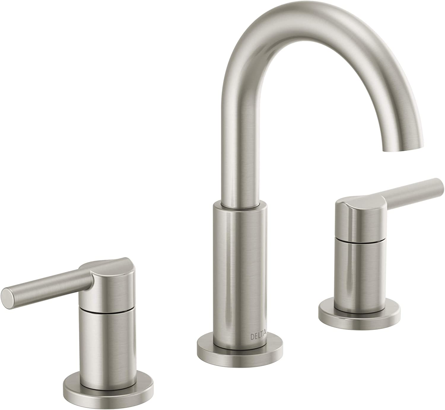 Delta Faucet Nicoli Widespread Bathroom Faucet Brushed Nickel Bathroom Faucet 3 Hole Bathroom Sink Faucet Drain Assembly Stainless 35749lf Ss Amazon Com