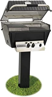 product image for Broilmaster P4-xfn Premium Natural Gas Grill On Black In-ground Post