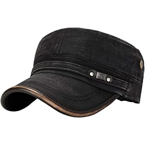 18ae61f5bed4a1 Sunbona Men Cotton Sunshade Hat Adjustable Flat Top Hat Military Cap  Outdoor Sport Running Accessories