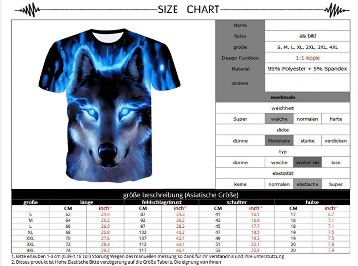 Wolf 3D Print Animal Cool Funny T-Shirt Men Short Sleeve Summer Tops T Shirt